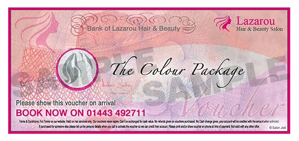Pontypridd salon package voucher